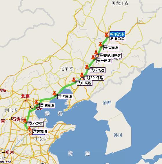 杭州到长春地图